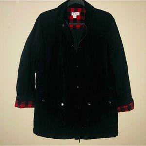 Denim&Co Plaid & Black Jacket